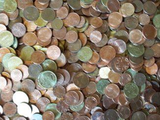 Münzen der europäischen Gemeinschaftswährung Euro.