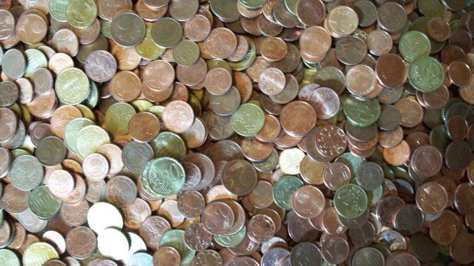 Ein Vermögen in Kleingeld: Münzen der europäischen Gemeinschaftswährung Euro.