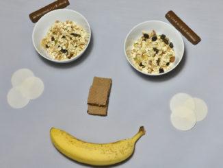 Ein Smiley aus Essen. Aber zaubern auch die Zutaten ein Lächeln in Ihr Gesicht ?