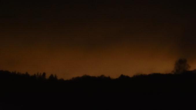 Beispiel von Lichtverschmutzung (trotz Neumond keine Dunkelheit).