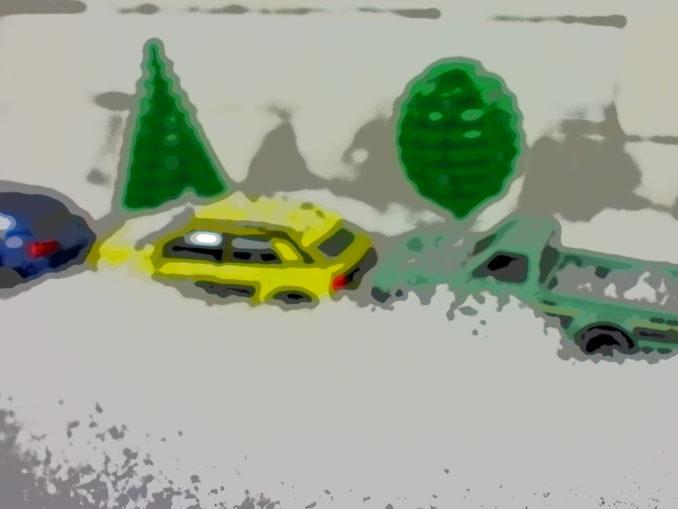 Der Morgen nach dem Schneesturm: Wo habe ich bloß mein Auto geparkt !?